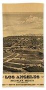 Los Angeles 1877 Beach Towel