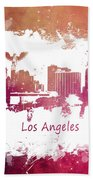 Los Angeles California Skyline Beach Towel
