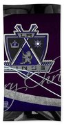 Los Angeles Kings Christmas Beach Towel