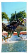 Los Colinas Mustangs 14698 Beach Towel