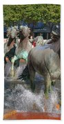 Los Colinas Mustangs 14710 Beach Towel