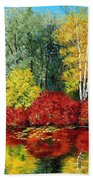 Autumn Pond Beach Towel