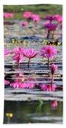 Lotus Flowers Beach Towel