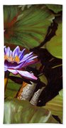 Lotus One Beach Towel