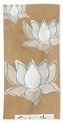 Lotus Serenity Beach Towel