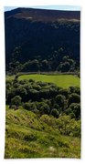 Lough Tay Below Luggala Mountain Beach Towel