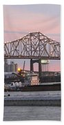 Louisiana Baton Rouge River Commerce Beach Towel