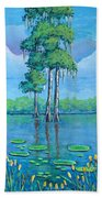 Louisiana Cypress Beach Towel