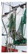 Louisiana Shrimp Boat Nets Beach Towel