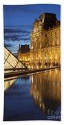 Louvre Reflections Beach Towel by Brian Jannsen