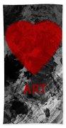 Love Art 1 Beach Towel