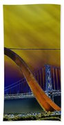 Love At Cupid's Span San Francisco Bay Bridge Beach Towel