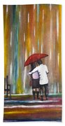Love In The Rain Beach Towel