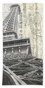 Love Letter From Paris Square Beach Towel