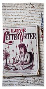 Love Letter Writer Book Beach Sheet