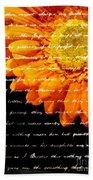 Love Letters Beach Towel by Edward Fielding