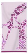 Love Quatro - Heart - S44b Beach Towel