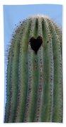 Love Shack Saguaro With A Heart Beach Towel