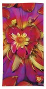 Loveflower Orangered Beach Towel