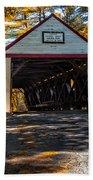 Lovejoy Covered Bridge Beach Towel by Bob Orsillo