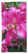 Lovely Lilies  Beach Towel