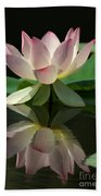 Lovely Lotus Reflection Beach Towel