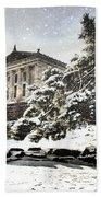 Lovely Snow On The Museum Beach Towel