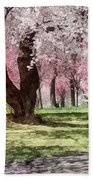 Lovely Spring Day For A Walk Beach Towel