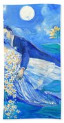 Lovers And Sunflowers  After Marc Chagall  Beach Towel