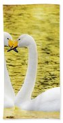 Loving Swans Beach Towel by Tommytechno Sweden