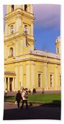 Low Angle View Of A Cathedral, Peter Beach Towel
