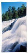 Low Angle View Of The Bond Falls Beach Towel