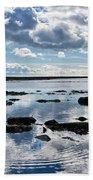 Low Tide At Lyme Regis 2 Beach Towel