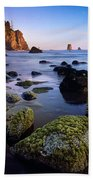 Low Tide At Second Beach Beach Towel