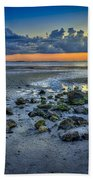 Low Tide On The Bay Beach Towel by Marvin Spates