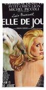 Lowchen Art - Belle De Jour Movie Poster Beach Towel