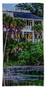 Lowcountry Home On The Wando River Beach Towel