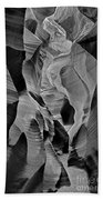 Lower Antelope Glow Black And White Beach Towel