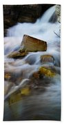 Lower Apikumi Falls Glacier National Park Beach Towel