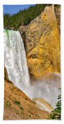 Lower Falls From Uncle Toms Trail Beach Towel