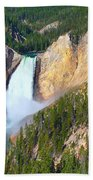 Lower Falls Yellowstone 2 Beach Towel