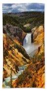 Lower Falls Yellowstone Beach Towel
