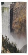 Lower Falls - Yellowstone Beach Towel