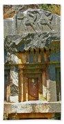 Lower-level Tomb In Myra-turkey Beach Towel