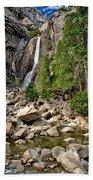 Lower Yosemite Falls Beach Towel