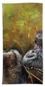Lowland Gorilla 2 Beach Towel by David Stribbling