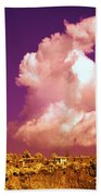 Lubriano, Italy, Infrared Photo Beach Towel