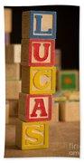 Lucas - Alphabet Blocks Beach Towel