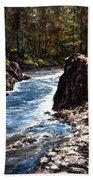 Lucia Falls Downstream Beach Towel