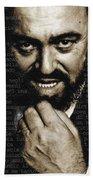 Luciano Pavarotti Beach Towel